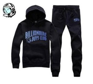 Fashion- new arrival hip hop track suit BILLIONAIRE BOYS CLUB men's jogging suit autumn winter warm pullover hoodie quality Top + pants on Sale