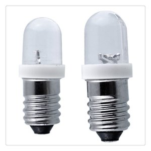 E10 Light Bulbs DC 6V 12V 24V LED Screw Base Indicator Bulb Mini Warning Signal Lamp