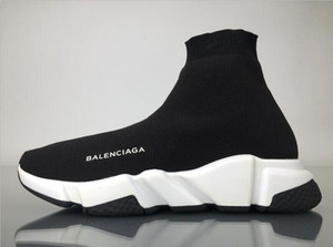 Wholesale 2030 High Quality Casual Shoes Flat Fashion Socks Boots Women New Slip on Elastic Cloth Speed Trainer Runner Men Sports Shoes Outdoors