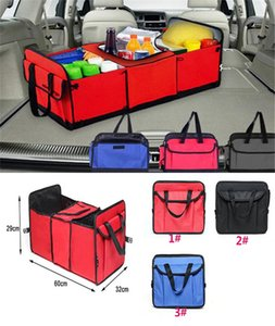 Wholesale 3 style Foldable Vehicle Storage Bag Car Truck Organizer Basket toy sundries Container With Cooler And Insulation Car Organizer dc533
