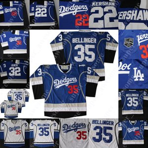 ingrosso pullover di hockey la re-Los Angeles King La Warmup Jerseys Drew Doughty Jonathan Quick Anze Kopitar Jeff Carter Clayton Kershaw Sandy Koufax Alex Verdugo