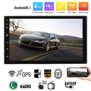 arabalar için dvd gps radyoları toptan satış-Android Araba Radyo Stereo GPS Navigasyon Bluetooth Wifi Evrensel Din Araba Radyo Stereo Dört Çekirdekli Multimedya Player Ses