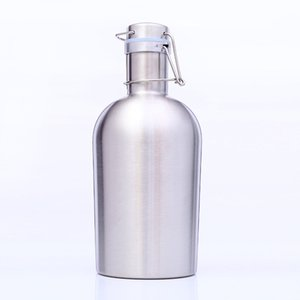 Wholesale 32oz Beer Growler Beer Barrel Mug Stainless Steel High Capacity Picnic Outdoor Party for wine water with swing lid