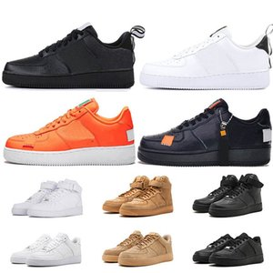 Hot 1 Fashion All High low White black Dunk Wheat Men Shoes Women Classical Sports sneakers Breathable Designer Trainers skate Shoe 36-45 on Sale