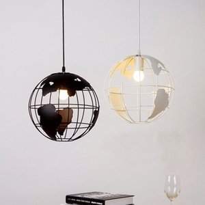 Wholesale Modern Globe Pendant Lights Black White Lampshade for Kitchen Bar Dining Room Restaurant Coffee Shop Home Decoration Hanging Lamp