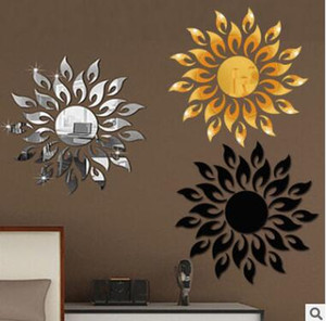 Wholesale Sun Mirror Wall Stickers Reflective Sticker Room Decoration Art DIY Art Wall Stickers Home Decor Living Room