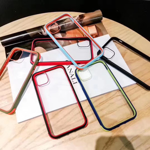 Simple Transparent Acrylic Phone Case for iPhone 11 Pro Max Soft TPU + Acrylic Hard PC Back Cover