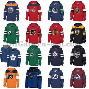 Cheap Hockey Hoodie Pullover Men Youth Blank Chicago Blackhawks Vancouver Canucks St. Louis Blues Tampa Bay Lightning Rangers Boston Bruins