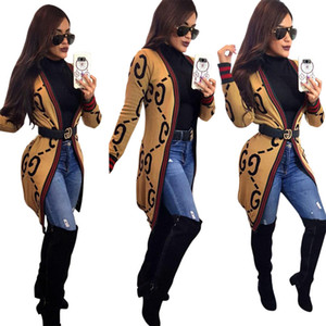 New Spring Women's Long Ladies jacket Shirts Cardigan Air Conditioning Sunscreen Female Stripe Letter printed Blouses Jackets NB-895