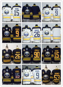 Buffalo Sabres 9 Jack Eichel Jersey Hockey 26 Rasmus Dahlin 53 Jeff Skinner 55 Rasmus Ristolainen Reinhart Okposo Blue White Men Women Kids on Sale