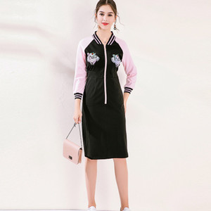 Wholesale Fashion Elegant Princese Dress of Girl Beauty Embroidery Skirt Autumn and Winter Women s Leisure Coat Casual Dresses