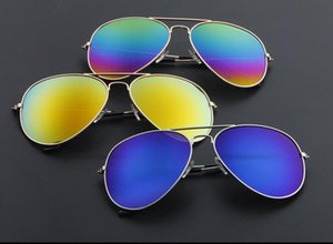 2019 explosion models sunglasses sunglasses outdoor reflective color film frog mirror men and women metal resin glasses