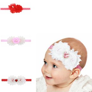 Wholesale 7 styles Heart shaped sun flower hair band Valentine s Day rhinestone lace multi angle flower headband hair accessories