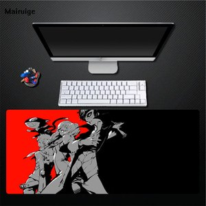 Wholesale Mairuige Character Anime Red Black Mouse Pad Non fading Pad Non slip Desktop Large Size Mouse Pad Game Accessories