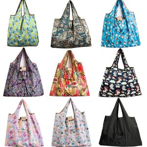 Wholesale bag polyester fabrics for sale - Group buy baggu Big Size Thick Magic style Nylon Large Tote ECO ReuPolyester Portable Shoulder Handbag Folding Pouch Shopping Bag Foldable canvas bag