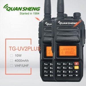 Wholesale 2pcs Quansheng TG UV2 PLUS W walkie talkie mAh High Quality two way radio Ham radio station swr meter yaesu cb