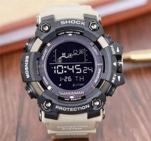 Wholesale Men watches sport military quartz digital watch high quality waterproof designer shocking watches resin strap G style male student watches