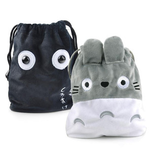 Wholesale 2019 new Short Japanese anime around the chinchillas plush bundle pocket stretch debris storage bag cat drawstring mobile phone bag