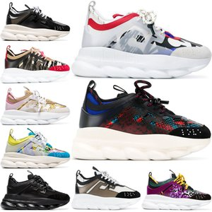 Wholesale 2020 Chain Reaction Luxury Designer Shoes Men Women Sneakers Snow Leopard Black White Mesh Rubber Leather fashion women Casual shoes