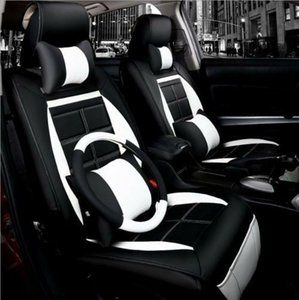 Wholesale NEW PU Leather Car Seat Cushion set For All Car steering wheel cover
