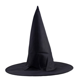 ingrosso accessorio per le streghe-Cappello Wizard Halloween Witch Hat Masquerade Nero Adulto Kid Cosplay accessorio del partito di Halloween guidata Cosplay Prop Cap VT0622