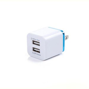 Wholesale China Dual Port USB Wall Charging Charger Metal Charger Plug A A AC Power Adapter Plug for Iphone Samsung Any Cellphone