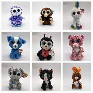 Wholesale Hot Fashion style cm taibini doll plush toy beanie boos big eyes animal doll children gift Party Favor T2G5024