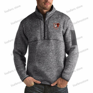 futebol de boliche verde venda por atacado-Bowling Green St Falcons Sueter Mens Fortune Big Alto Quarter Zip Pullover Casacos costurado College Football Sports Hoodies