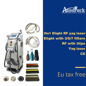 2018 Pro multifunction Radio frequency face lift tattoo hair removal elight opt shr rf nd yag laser ipl machine
