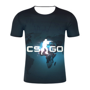 Wholesale New Summer Fashion d T Shirt Short Sleeve Tee Counter Strike Global Offensive CSGO Men Women T Shirts Homme Brand Clothing