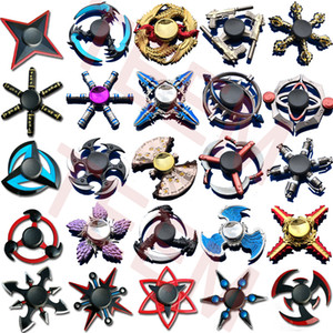 Wholesale 100 types fidget Spinner Fingertip Gyro games hand Spinners Dragon wings eye Decompression Anxiety Toys for EDC aluminium alloy with Tin box