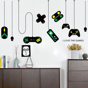 Wholesale Game Handle Decoration Chandelier Wall Sticker home decor creative color Computer desk background paster water proof an WW