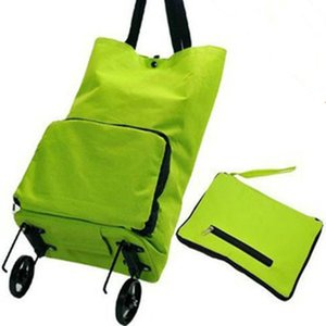 Wholesale- The portable folding bags supermarket shopping cart trolley wheel package shopping bag