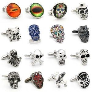 28 Styles Option Vintage Novelty Skeleton Design Skull Cuff Links