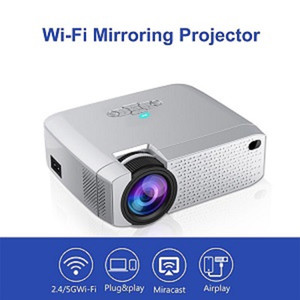 Smart 4k Mini Portable Projector For cell phone Led Projector D40W WiFi connection HD Projectors Free shipping by DHL