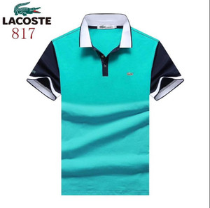 Wholesale New summer lapel polo shirt embroidered cotton short sleeved brand design a variety of colors to choose the size M XL