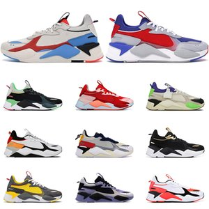 Wholesale Hot Sale RS X men women fashion running shoes Black green Gold red ATOLL BRIGHT PEACH Outdoor mens trainers sports sneakers size