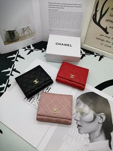 Wholesale Fashion Oil Wax Pu Leather Wallets With Card Holder Solid Color Women Purse Simple Cute Students Daily Small Wallet portefeuille femme