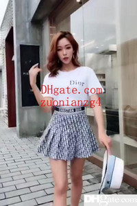 Ladies Summer New Dress Small White T With Pleated Skirt Age Of The Age-old College