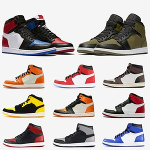 Wholesale Jumpman High Quality Mens s High OG Basketball Shoes s Chicago Game Royal Olive Canvas Banned Shadow black toe Women Outdoor Sneakers