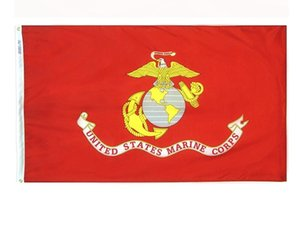 American Army USA United States Marine Corps - USMC Polyster flag banners DHL free SN2307