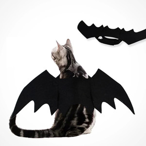 Wholesale tv extra resale online - Halloween Pet Bat Costume Cat Bat Costume for Halloween Pet Fancy Dress for Cats Small Dogs