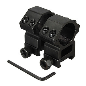 Wholesale high scope mounts resale online - 2pcs mm Scope Ring High Profile Fit for mm Picatinny Weaver Rail Mount Flashlight Mounts Hunting Accessories New