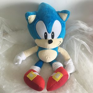 Wholesale Anime Doll Plush Toys Sonic the Hedgehog cm Blue Sonic Plush Toys Cute Stuffed Kids Gifts Baby Boys Big Soft Toys For ChildrenMX190917