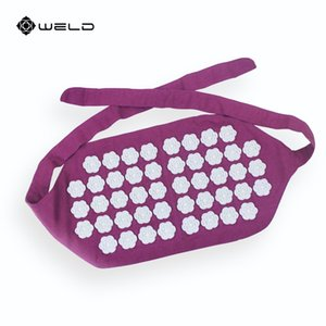 Wholesale 1Piece Acupuncture Massage Belt Acupressure Waist Mat Pain Relieve Cushion Relieves Massage Belt Muscle Relax Belts