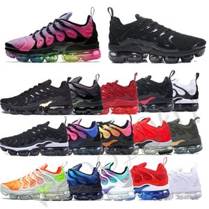 Wholesale with box best quality tn plus men women vapors shoes max sneakers chaussures air cushion cushions tns femme requin mens running sport