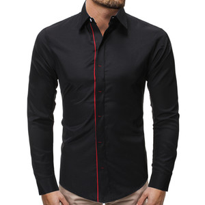 Wholesale Mens Long Sleeve Shirt Dress Up Professional Shirt Long Sleeve Mens Slim Fit Solid Color Men Business Dress