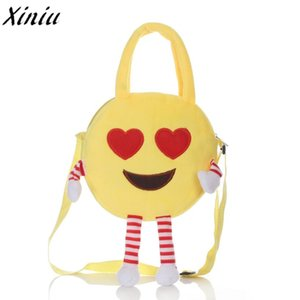Women Bag Mini Handbags Cute Kids Emoji Emoticon Shoulder School Villus Bag Shoulder Satchel Handbag Girls Clutch Kids Pouch