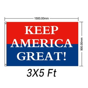 Wholesale Trump Tank Flag Donald John Banner Usa President Decortive Train Keep America Great Various Styles wf F1