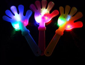 Wholesale 30pcs Flash led Luminescent hands clap luminous party supplies light hand clapping device luminous palm party supplies